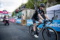 Michael Storer (AUS/DSM) at the finish<br /> <br /> 104th Giro d'Italia 2021 (2.UWT)<br /> Stage 19 from Abbiategrasso to Alpe di Mera (Valsesia)(176km)<br /> <br /> ©kramon