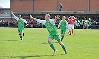 KSV Pittem - GD Ingooigem :Jo Mahieu viert de 1-4 die hij zonet scoorde voor Ingooigem.foto VDB / BART VANDENBROUCKE
