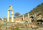 Ruins of the ancient city of Ephesus in Turkey.