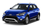 2020 Hyundai i20-Active Active 5 Door Hatchback Angular Front automotive stock photos of front three quarter view