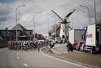 first breakaway attempt of the day<br /> <br /> 74th Dwars door Vlaanderen 2019 (1.UWT)<br /> One day race from Roeselare to Waregem (BEL/183km)<br /> <br /> ©kramon