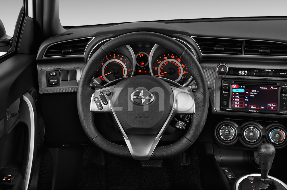 Steering wheel view of a 2014 Scion TC Coupe
