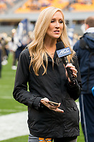 ACC sideline reporter Rebecca Kaple. The Pitt Panthers defeated the Virginia Cavaliers 31-14 at Heinz Field, Pittsburgh, PA on October 28, 2017.