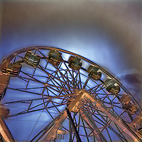 Ferris wheel at the country fair.
