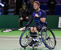 Rotterdam, The Netherlands, 14 Februari 2019, ABNAMRO World Tennis Tournament, Ahoy, Wheelchair, Half Final, Alfie Hewett (GBR),<br /> Photo: www.tennisimages.com/Henk Koster