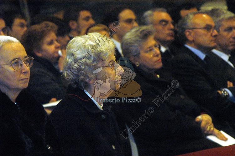 DONATA RUINI <br /> MESSA DI RINGRAZIAMENTO PER I 50 ANNI DI SACERDOZIO DEL CARDINAL CAMILLO RUINI - SAN GIOVANNI IN LATERANO ROMA 2004