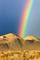 Rainbow over Eastern Sierra Mountains near Bishop, California