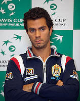 08-02-12, Netherlands,Tennis, Den Bosch, Daviscup Netherlands-Finland, Training, Jean-Julien Rojer .