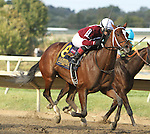 September 20, 2014:  Untapable with Rosie win the $1,000,000 Grade I Cotillion Stakes for 3-year old fillies, going 1 1/16 mile at Parx. Trainer: Steve Asmussen . Owners: Winchell Thoroughbreds . Sue Kawczynski/ESW/CSM