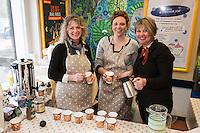 'A Spotter Tea' pop-up cafe - from left are Nichola Hoskins, Caroline Andruskevivius and owner Kathryn Keeling
