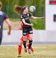 Summer Rogiers (8) of Zulte-Waregem pictured during a female soccer game between FC Femina White Star Woluwe and SV Zulte Waregem on the fifth matchday of play off 2 in the 2020 - 2021 season of Belgian Scooore Womens Super League , Saturday 8 th of May 2021  in Woluwe , Belgium . PHOTO SPORTPIX.BE   SPP   DAVID CATRY