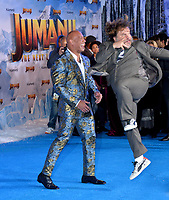 "LOS ANGELES, USA. December 10, 2019: Dwayne Johnson & Jack Black at the world premiere of ""Jumanji: The Next Level"" at the TCL Chinese Theatre.<br /> Picture: Paul Smith/Featureflash"