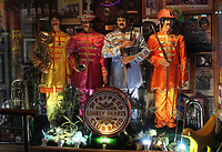 BNPS.co.uk (01202 558833)<br /> AdamPartridge/BNPS<br /> <br /> A life-sized recreation of the Sgt Pepper's Lonely Hearts Club Band album <br /> <br /> A vast collection of 'weird and wonderful' memorabilia from a music venue that hosted early Beatles gigs has emerged for sale for close to £50,000.<br /> <br /> Lathom Hall in Liverpool was one of the best known clubs on the Merseybeat music scene in the late 1950s and early 1960s.<br /> <br /> Among their regular bands were the Beatles, although at that time they were known as the Silver Beets.<br /> <br /> Since those days the hall has adapted and is now an entertainment venue crammed full of pop culture memorabilia.