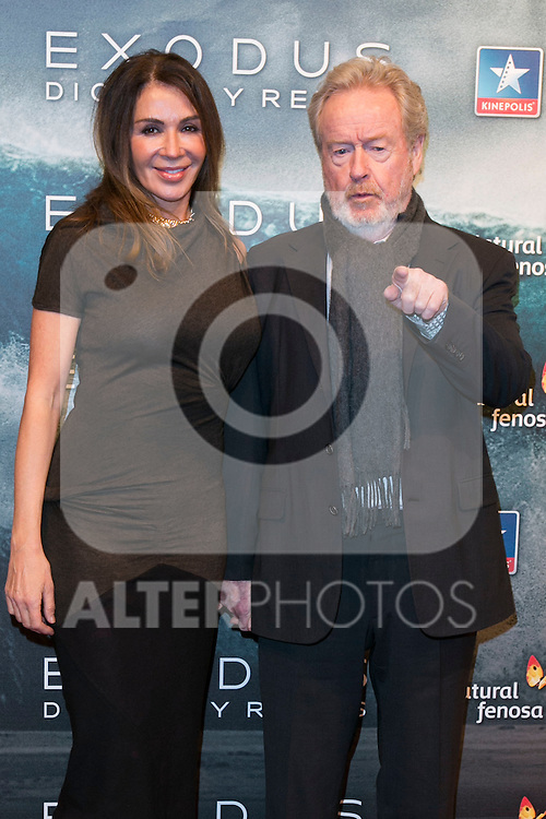 """Ridley Scott attend the Premiere of the movie """"EXODUS: GODS AND KINGS"""" at callao Cinema in Madrid, Spain. December 4, 2014. (ALTERPHOTOS/Carlos Dafonte)"""