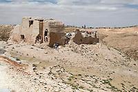 Issabiya, near Garyan, Libya - Abandoned Berber Granary, European Tourists