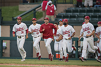 STANFORD, CA - MAY 27: Celebration after a game between Oregon State University and Stanford Baseball at Sunken Diamond on May 27, 2021 in Stanford, California.