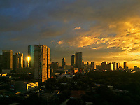 Stormy Weather and dramatic clouds over Manila during the Monsoon Season
