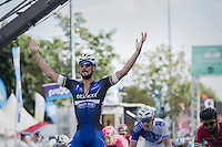Tom Boonen (BEL/Etixx-Quickstep) wins the (full on) bunch sprint ahead of Arnaud Démare (FRA/FDJ) & Nacer Bouhanni (FRA/Cofidis)<br /> <br /> Brussels Cycling Classic 2016