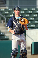 Wilmington Blue Rocks catcher Wil Myers #25 during infield practice before a game vs. the Myrtle Beach Pelicans at BB&T Coastal Field in Myrtle Beach,SC on July 20, 2010.  Myrtle Beach defeated Wilmington by the score of 5-4.  Photo By Robert Gurganus/Four Seam Images
