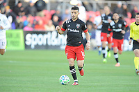 WASHINGTON, DC - MARCH 07: Felipe Martins #18 of D.C. United moves the ball during a game between Inter Miami CF and D.C. United at Audi Field on March 07, 2020 in Washington, DC.