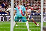 Atletico de Madrid's Angel Martin Correa and Rayo Vallecano's Alberto Garcia during La Liga match. August 25, 2018. (ALTERPHOTOS/A. Perez Meca)
