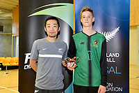 Golden Glove trophy winner, Jack Phillips of Hamilton Boys' High School, Futsal NZ Secondary Schools Junior Boys Final between Hamilton Boys High School and Selwyn College at ASB Sports Centre, Wellington on 26 March 2021.<br /> Copyright photo: Masanori Udagawa /  www.photosport.nz