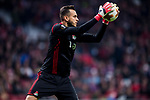 Goalkeeper Marinato Guilherme of FC Lokomotiv Moscow in action during the UEFA Europa League 2017-18 Round of 16 (1st leg) match between Atletico de Madrid and FC Lokomotiv Moscow at Wanda Metropolitano  on March 08 2018 in Madrid, Spain. Photo by Diego Souto / Power Sport Images