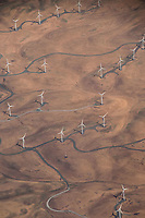 Aerial View of Windmills, Altamont Pass, Alameda County, California, US