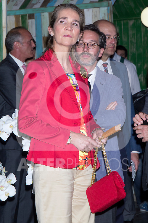 """07.06.2012. Princess Elena of Spain Inauguration of the 4th Edition of the International Exhibition of Photography """"Madridfoto"""" at Matadero in Madrid. In the image Princess Elena de Borbon (Alterphotos/Marta Gonzalez).."""