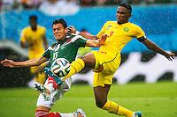 HECTOR MORENO, SAMUEL ETO O  <br /> Natal (Brasile) 13-06-2014 Estadio Das Dunas. Group A Mexico - Cameroon / Messico - Camerun 1-0 . Football 2014 Fifa World Cup Brazil - Campionato del Mondo di Calcio  Brasile 2014 <br /> Foto Fotoarena/Panoramic/Insidefoto