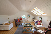 BNPS.co.uk (01202) 558833. <br /> Pic: Bidwells/BNPS<br /> <br /> Pictured: Upstairs room.<br /> <br /> Better than a gravy boat...<br /> <br /> A striking country house built by a bishop as a wedding gift for his son is on the market for offers over £2m.<br /> <br /> Dunbeg House sits in an incredible position on the bank of a loch with stunning panoramic water and mountain views.<br /> <br /> The impressive property not only includes the five-bedroom main house, but also a two-bedroom cottage that has been run as a successful holiday let and over four acres of woodland garden.