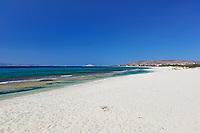 Glyfada beach in Naxos island, Greece