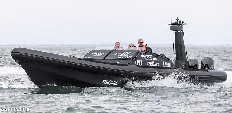 John Ryan's Zero Dark RIB out on Dublin Bay