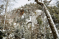 Goodluck Mountain after a light snowfall in the Adirondack Mountains in New York State