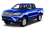 2017 Toyota Hilux Comfort 2 Door Pickup Angular Front stock photos of front three quarter view