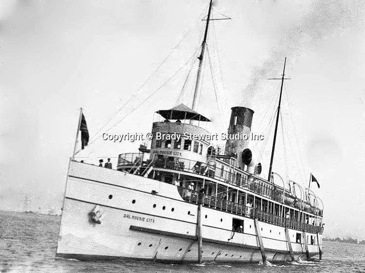 Niagara Falls, New York:  Dalhousie City Ferry Boat docking in Buffalo to take passengers to Queenston Toronto.
