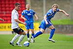 St Johnstone v Bolton....02.08.10  Pre-Season Friendly.Liam Craig gets around Gary Cahill.Picture by Graeme Hart..Copyright Perthshire Picture Agency.Tel: 01738 623350  Mobile: 07990 594431