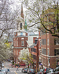 The Charles Street Meetinghouse on Beacon Hill, Boston, Massachusetts, USA