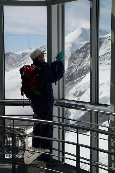 Views from Eiger Observatory above Lauterbrunnen, Switzerland,