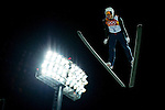 Nicholas Alexander of USA jumps during the Men's Normal Hill Individual of the 2014 Sochi Olympic Winter Games at Russki Gorki Ski Juming Center on February 9, 2014 in Sochi, Russia. Photo by Victor Fraile / Power Sport Images