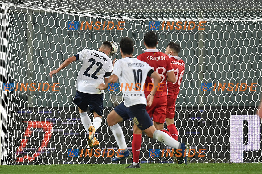 Stephan El Shaarawy of Italia scores the 5-0 goal during the friendly football match between Italy and Moldova at Artemio Franchi Stadium in Firenze (Italy), October, 7th 2020. Photo Andrea Staccioli/ Insidefoto