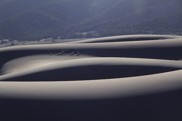 Backlit sand dunes in Great Sand Dunes National Park, Colorado. John offers private photo tours to Great Sand Dunes National Park and Rocky Mountain National Park, Colorado.