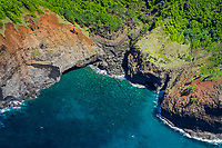 Hanakoa Valley, Na Pali Coast, Kauai, Hawaii, USA, Pacific Ocean