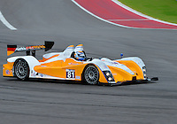 September 19, 2013: <br /> <br /> Mirco Schultis / Renger van der Zande driving #81 PC ORECA FLM09 during International Sports Car Weekend test and setup day in Austin, TX.