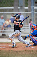 Miami Marlins second baseman Mike Garzillo (26) follows through on a swing during a minor league Spring Training game against the New York Mets on March 26, 2017 at the Roger Dean Stadium Complex in Jupiter, Florida.  (Mike Janes/Four Seam Images)