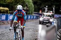 Biniam Girmay Hailu (ERI)<br /> Men U23 Individual Time Trial<br /> <br /> 2019 Road World Championships Yorkshire (GBR)<br /> <br /> ©kramon