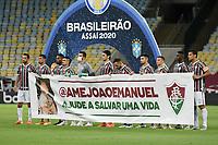 Rio de Janeiro (RJ), 10/02/2021 - Fluminense-Atlético-MG - Jogadores do Fluminense,durante partida contra o Atlético-MG,válida pela 35ª rodada do Campeonato Brasileiro 2020,realizada no Estádio Jornalista Mário Filho (Maracanã),na zona norte do Rio de Janeiro,nesta quarta-feira (10).