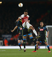 Arsenal's Pierre-Emerick Aubameyang<br /> <br /> Photographer Rob Newell/CameraSport<br /> <br /> UEFA Europa League First Leg - Arsenal v Napoli - Thursday 11th April 2019 - The Emirates - London<br />  <br /> World Copyright © 2018 CameraSport. All rights reserved. 43 Linden Ave. Countesthorpe. Leicester. England. LE8 5PG - Tel: +44 (0) 116 277 4147 - admin@camerasport.com - www.camerasport.com