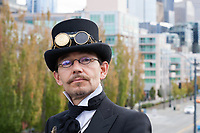 Cool Man in Vintage Suit, Steamposium Seattle 2015, WA, USA.