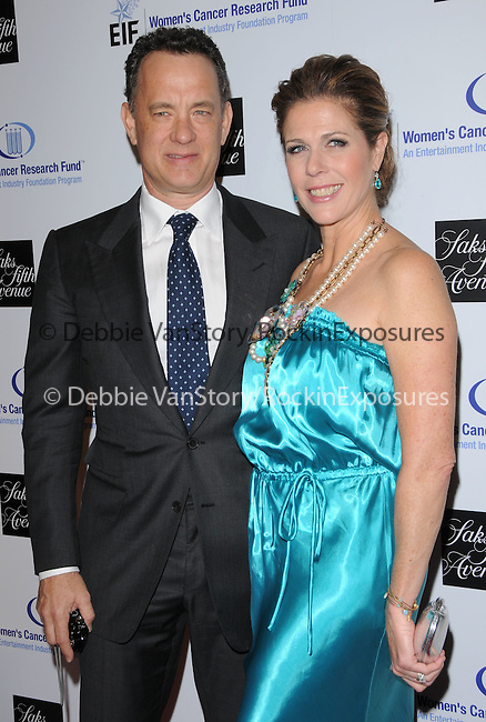 """Rita Wilson & Tom Hanks at The Saks Fifth Avenue's """"Unforgettable Evening"""" benefiting EIF's Women's Cancer Research Fund held at The Beverly Wilshire Hotel in Beverly Hills, California on February 10,2009                                                                     Copyright 2009 Debbie VanStory/RockinExposures"""